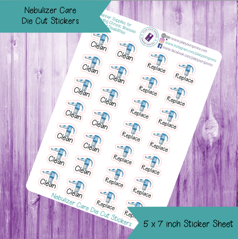 Nebulizer Care Die Cut Stickers
