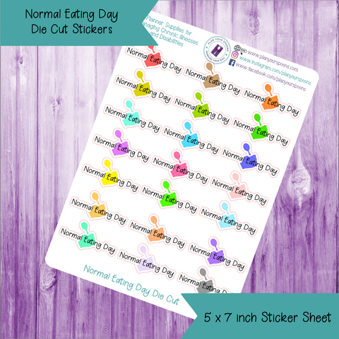 Normal Eating Day Die Cut