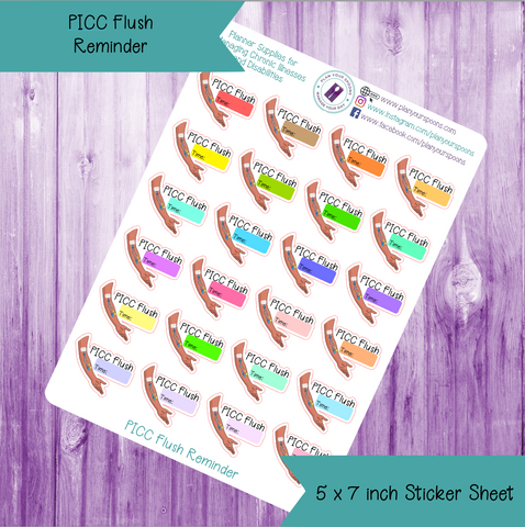 PICC Flush Die Cut Stickers