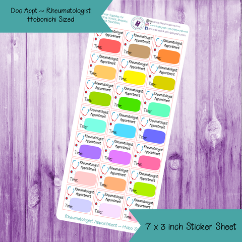 Rheumatologist Appointment Stickers ~ Hobonichi Weeks Sized