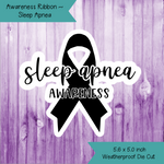 Awareness Ribbon ~ Sleep Apnea