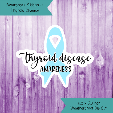 Awareness Ribbon ~ Thyroid Disease