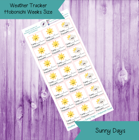 Weather Tracker ~ Hobonichi Weeks Sized