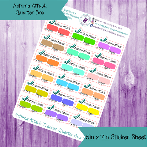 Asthma Attack Quarter Box Tracker