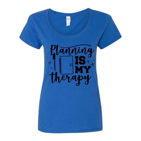 Planning Therapy Women's Scoopneck T-Shirt
