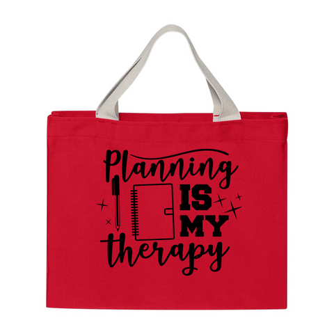 Planning Is My Therapy USA-Made Medium Tote