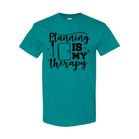 Planning Is My Therapy Heavy Cotton T-Shirt