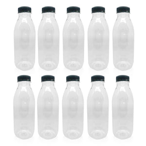 Clear Plastic Juice Bottles PET Refillable Empty Clear Water Drink Liquid  500ml