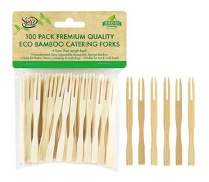 Bamboo Mini Cocktail Tasting Forks Fruit Food Picks Party Supplies