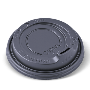 Detpak Spout Lids Black 12oz