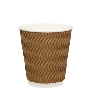 Ripple Wall Coffee Cups-Brown-12oz/355ml