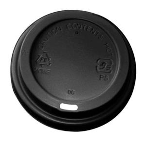 "8oz IP Coffee Cup Lids ""Black"""