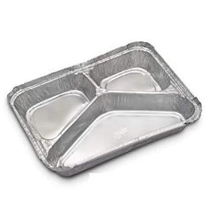 Foil Container 3 Compartments
