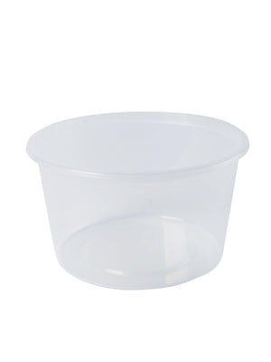Round Plastic Container-500ml -50 Pieces