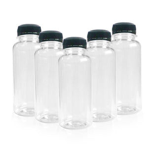 Clear Plastic Juice Bottles PET Refillable Empty Clear Water Drink Liquid 250ml  BPA FREE