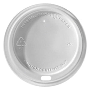 8oz IP Coffee Cup Lids 'White'