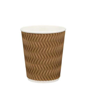 Ripple Wall Coffee Cups-Brown-8oz/237ml