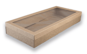 Brown Catering Tray - Large 560X255X80 mm With Lids Include