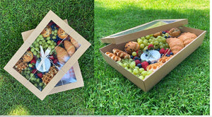 Brown Catering Tray - Medium 380X275X80 mm WITH Craft Lid included