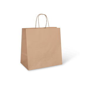 LARGE TWIST HANDLE BAG Large Twist Brown Bag With Handle (Ubar Eats Size)