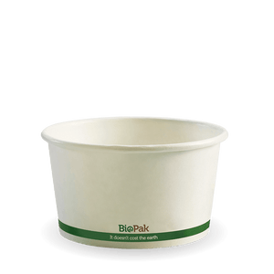 12oz Biopak White Paper Bowl