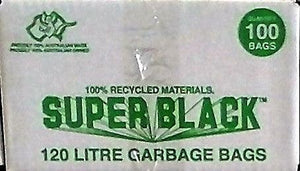 "Garbage Bags-""Super Black""-120 Ltr-100 Pieces"