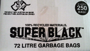 Super Black 72L Heavy Duty Garbage Bag 250/ctn