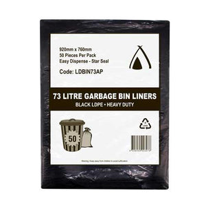 Garbage Bag-Heavy Duty-Black-73 Ltr- 50 Pieces