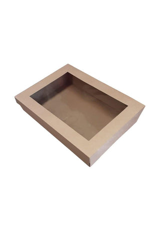 Brown Catering Tray - Medium 380X275X80 mm