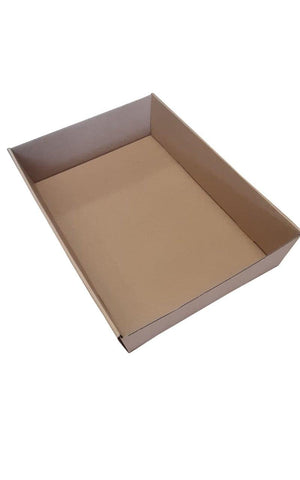 Brown Catering Tray - Medium 380X275X80 mm WITH LID included