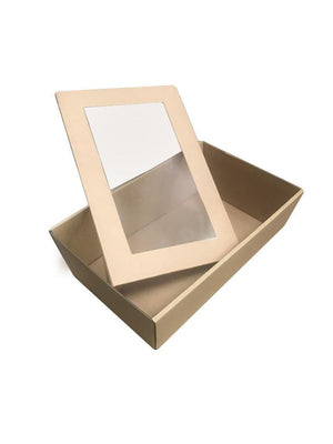 Brown Catering Tray - Small 255X155X80 mm With LIDS