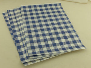 Greaseproof Dark Blue Gingham