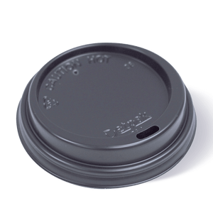 Smooth Hot Cup Lid-Black-12/16/20oz