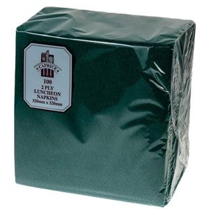 2 ply Luncheon Napkins Pine Green