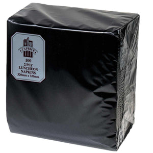 2 Ply Luncheon Napkins Black