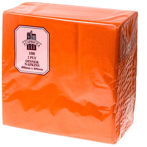 2 Ply Luncheon Napkins Orange