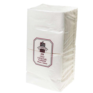 2ply Cocktail White Napkins