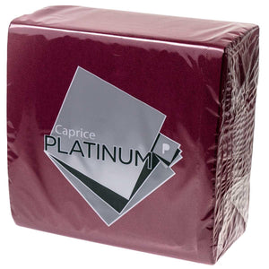 Dinner Napkins Platinum Burgandy