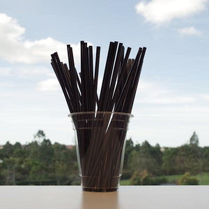 Regular Black Straws Size: 205 x 6 mm.