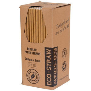 Paper Straws Regular Brown