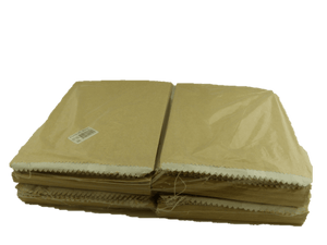 3 Long Greaseproof Lined Bags-Brown