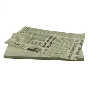 Greaseproof Paper Newsprint 190mm x 310mm