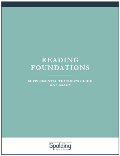 RFT6 Reading Foundations Supplemental Teacher's Guide E-book License (6)