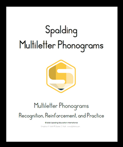 PML: Spalding Multiletter Phonograms