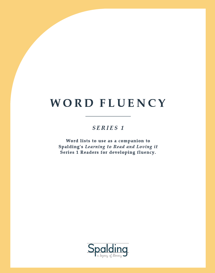 WF1D: Word Fluency Series 1 Downloadable Resource