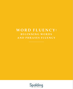 WFBD: Word Fluency Beginning Words and Phrases Downloadable Resource