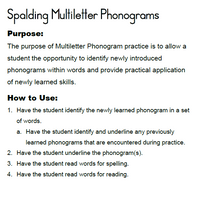 Load image into Gallery viewer, PML: Spalding Multiletter Phonograms