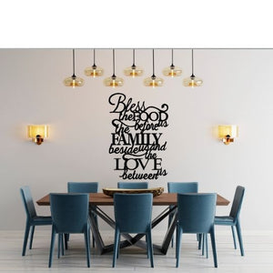 Real Steel Metal Home Decor Signs. LAG Metal Worx. USA Made. Metal Decor Signs Bless This Food Before Us. Personalized living space with these quality steel products just like redline steel