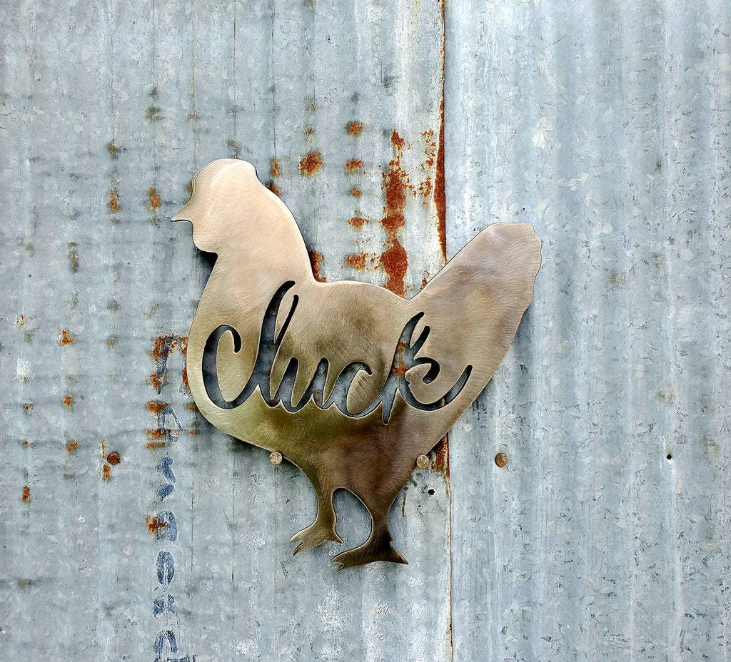 Cluck Chicken Metal Farmhouse Sign - LAG Metal Worx