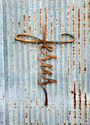 Jesus Cross Metal Sign Art - LAG Metal Worx